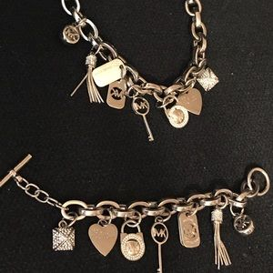 Michael Kors Chunky bling charm necklace/bracelet